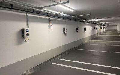 23 Wallboxen für ein Business-Center in Stuttgart